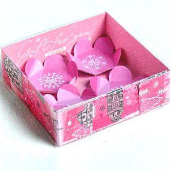 """Коробка для макарун с подложками """"Радости"""""""