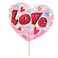 "Топпер-открытка ""LOVE"" сердечки"