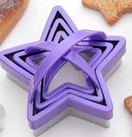 """Набор форм для вырезывания печенья """"Звезда"""""""