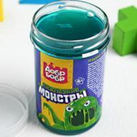 """Слизь для рук """"Скользкие монстры"""" с игрушкой, зеленая"""