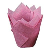 Капсула бумажная Тюльпан, цвет бордовый, 10 шт
