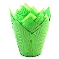 Капсула бумажная Тюльпан, цвет зеленый, 10 шт