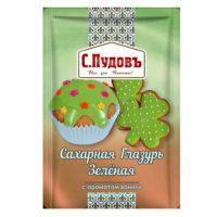 Пудовъ Сахарная Глазурь Зеленая с ароматом ванили
