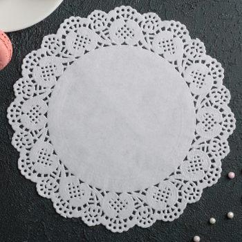Салфетка бумажная для торта, 19 см
