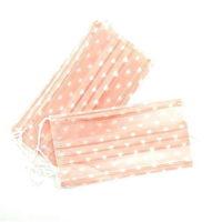Маска медицинская розовая с сердечками, 10 шт.
