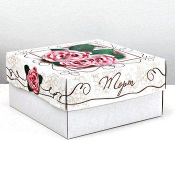 """Коробка для торта """"Розовые розы"""""""