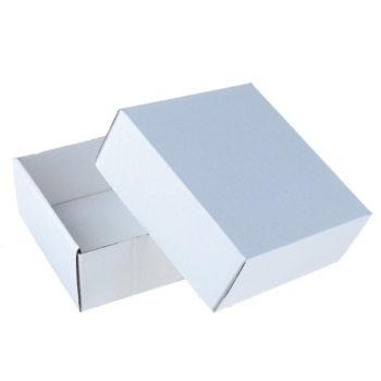 Коробка сборная без печати, белая
