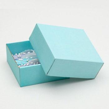 Коробка сборная без печати, голубая