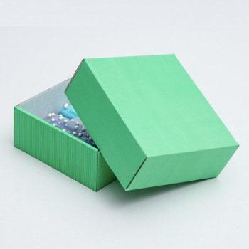 Коробка сборная без печати, мятная