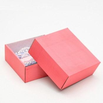 Коробка сборная без печати, розовая