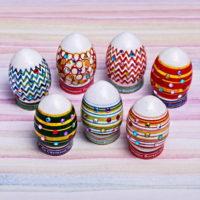 """Пасхальный набор для украшения яиц """"Полосы и стразы"""""""