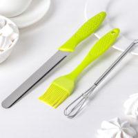 Кондитерский набор: кисть, нож, венчик