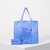 Сумка для покупок складная, цвет голубой