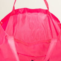 Сумка для покупок складная, цвет розовый