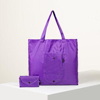 Сумка для покупок складная, цвет фиолетовый