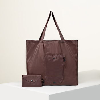 Сумка для покупок складная, цвет коричневый