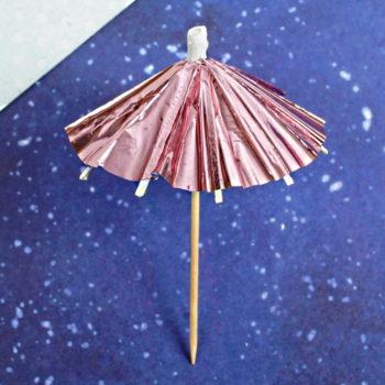 Шпажки Зонтики, розовое золото