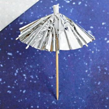 Шпажки Зонтики, серебро