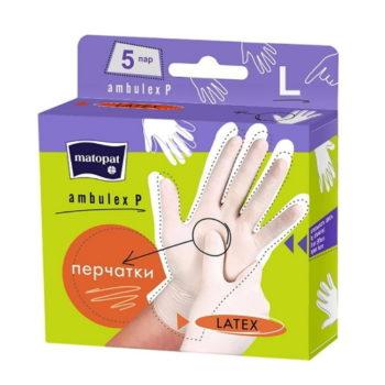 Перчатки Matopat Ambulex P, 5 пар, размер L